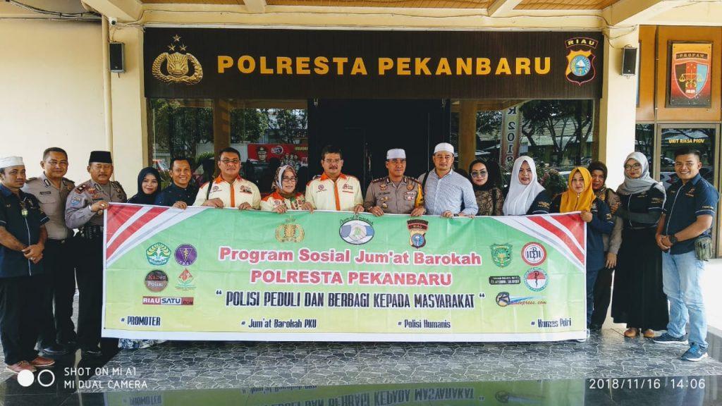Warga Nelayan : Terima Kasih Jum'at Barokah Polresta Pekanbaru