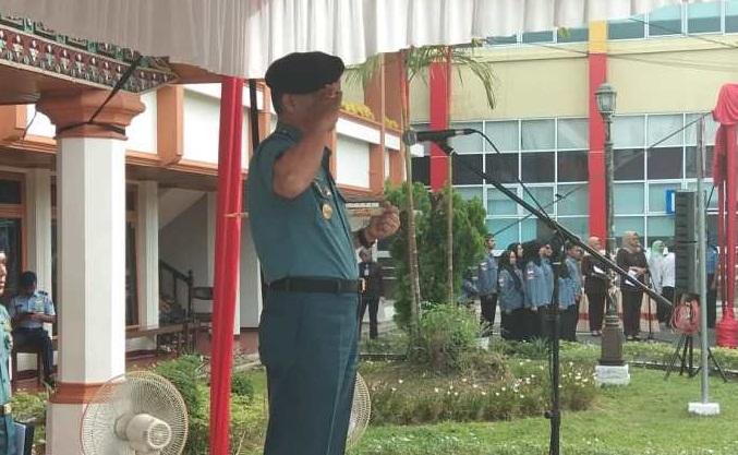 Inspektur Upacara Hari Bela Negara, Ini yang Dikatakan Danlantamal II Padang
