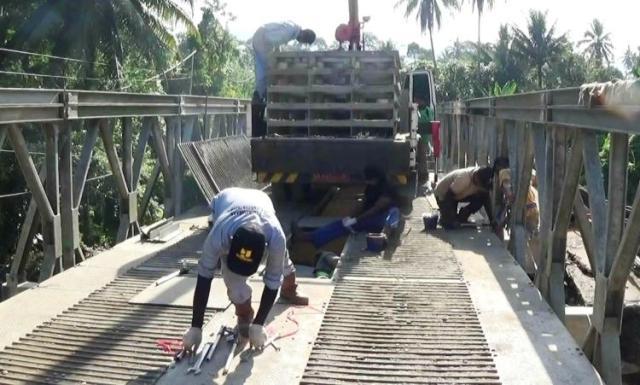 Atasi Kemacetan, Jembatan Darurat Kayutaman dibuat Ganda