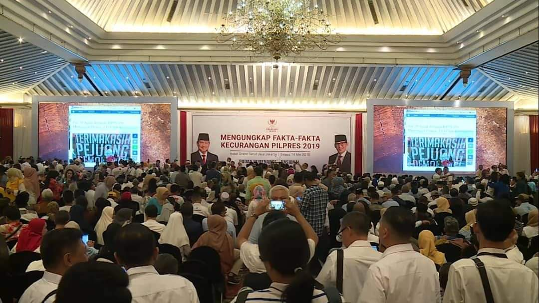 Prabowo Tolak Hasil Pemilu 2019, Jokowi Serahkan ke KPU, Begini Respons Sandiaga, Demokrat Hingga KPU