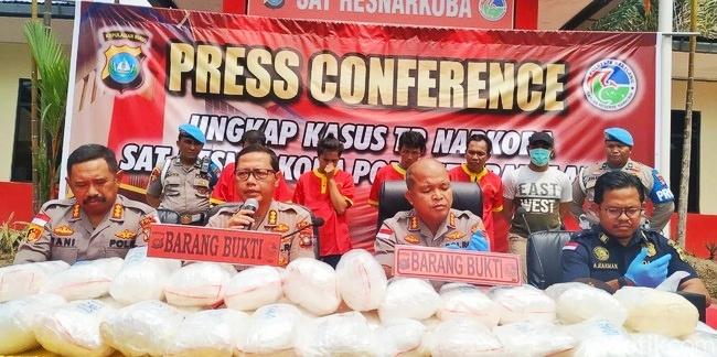 Empat Tersangka Seludupkan Sabu 38 Kg di Batam Terancam Hukuman Mati