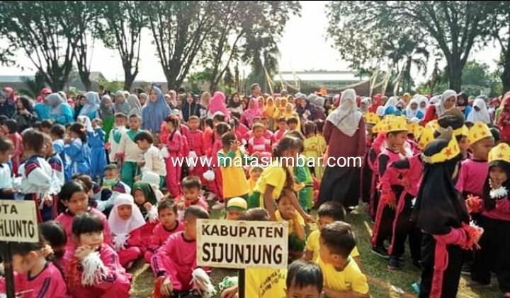 Peringati HAN, 60 PAUD di Sijunjung Ikuti Senam Massal