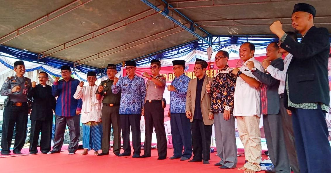 Polres Mentawai Gelar Doa Bersama Untuk Keamanan Indonesia Pasca Pemilu