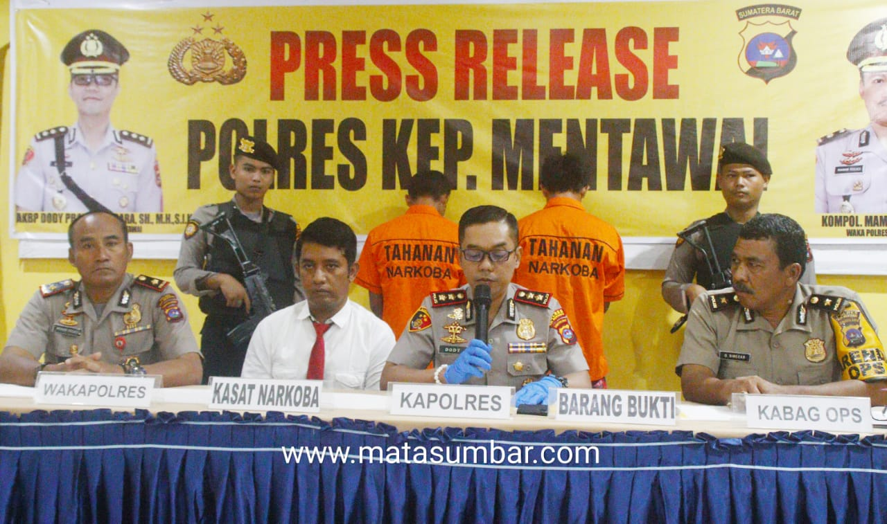 Kapolres Mentawai Komitmen Berantas Peredaran Narkoba, Bagi Pelaku Tidak Ada Toleransi!