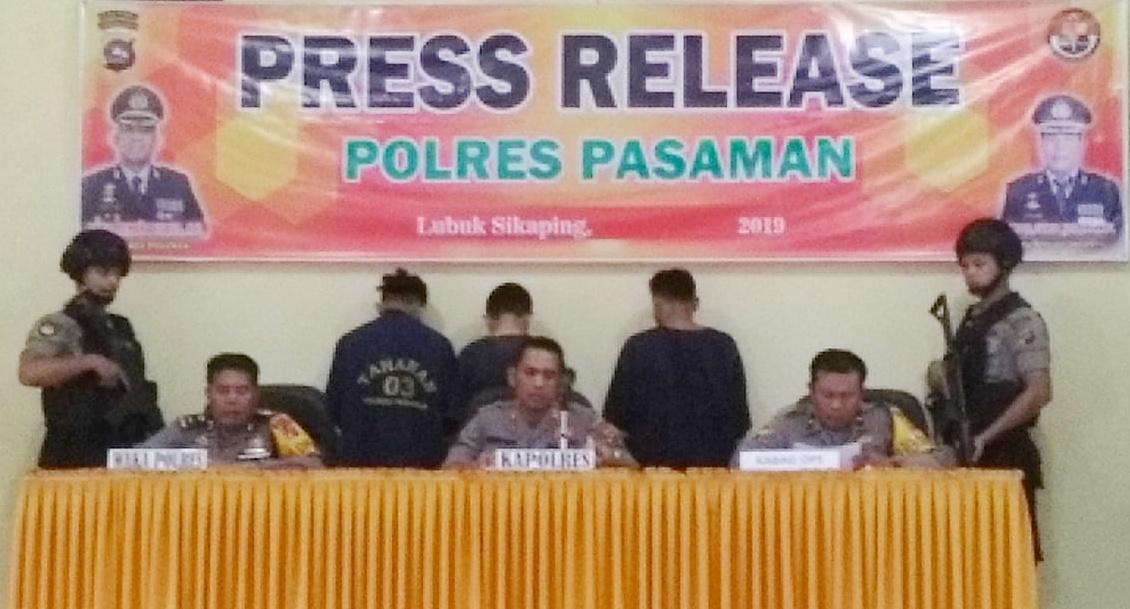 Tiga Pelaku Curat Berhasil di Bekuk Polres Pasaman