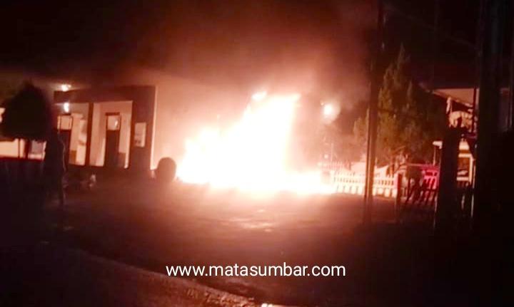 SPBU Gaduik Agam Terbakar, Kerugian di Taksir Ratusan Juta