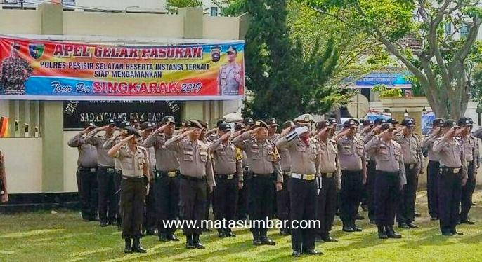 Polres Pessel Pimpin Apel Gelar Pasukan Pengamanan TdS 2019