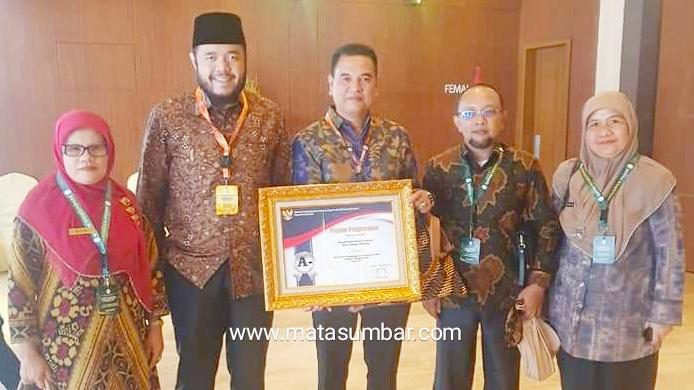 Penghargaan Pelayanan Publik Terbaik Tingkat Nasional 2019 Kembali di Terima Kota Padang Panjang