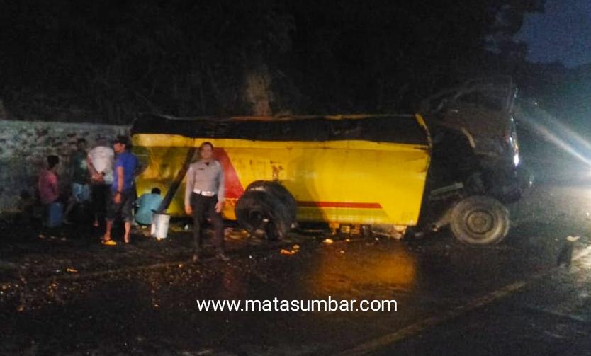 Terjadi Kembali Kecelakaan, Truck Tangki CPO Terbalik di Bukit Pulai Pessel