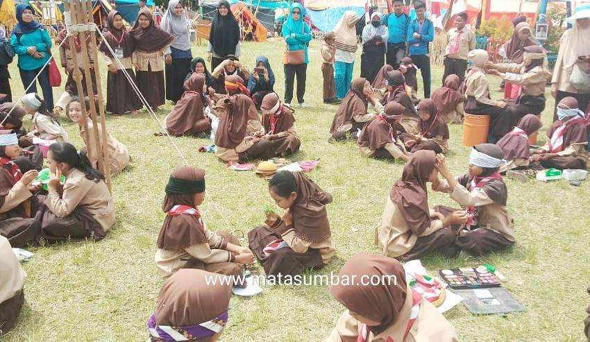 580 Pelajar Mengikuti Jambore Ranting Kwarran Tingkat Kecamatan