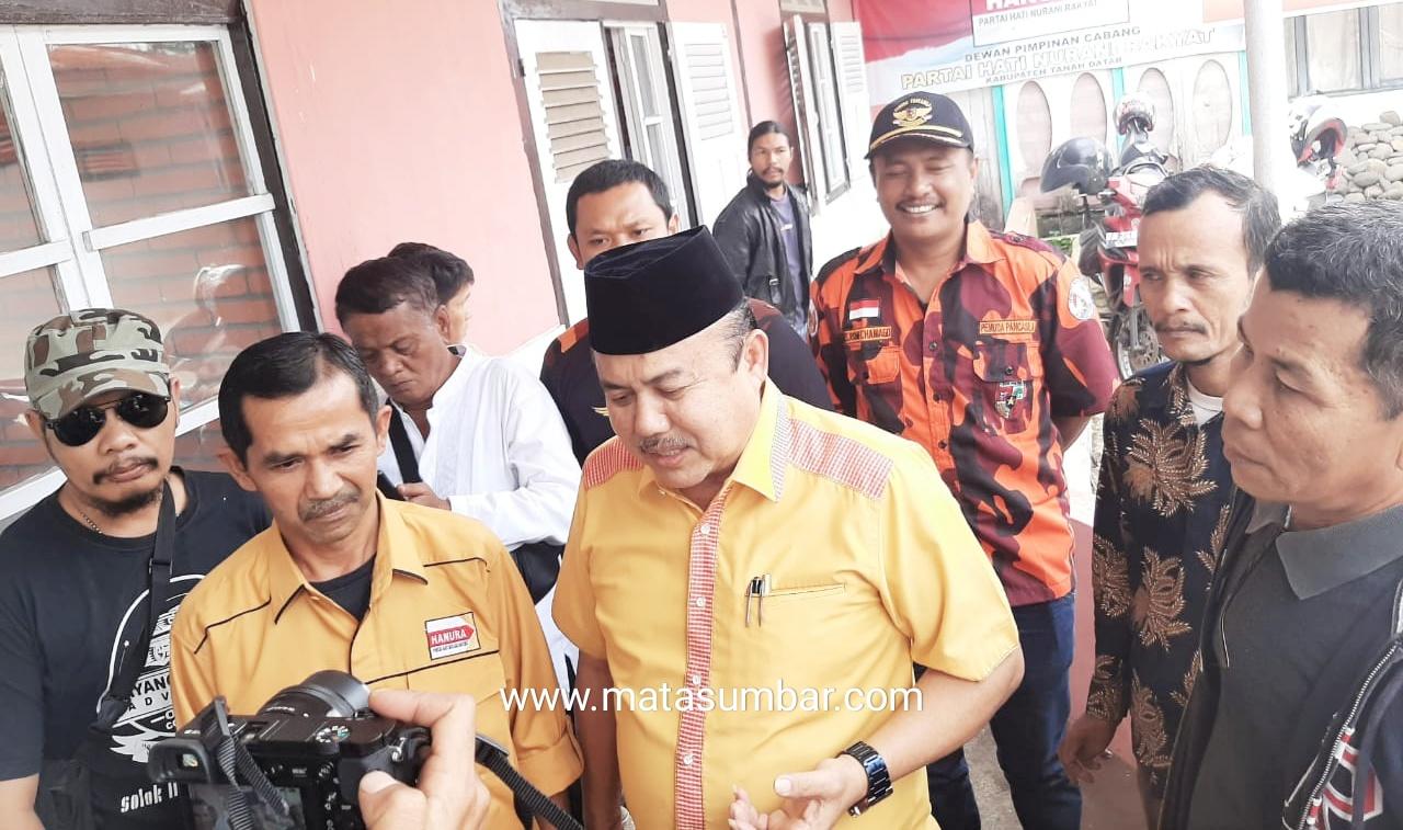 Mendaftar ke Partai Hanura, Wahyu Iramana Putra di Kawal Anggota Pemuda Pancasila