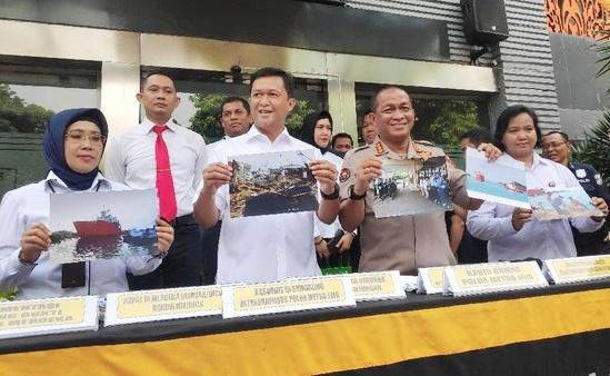 Nahkoda Penjual Suku Cadang Kapal Asing Senilai Rp 100 M di Tangkap Polisi