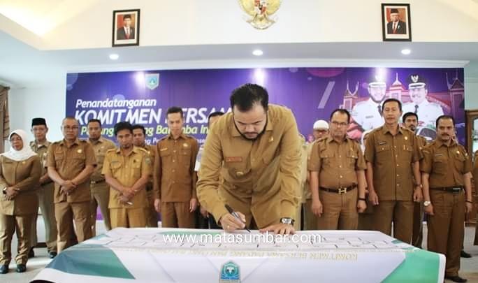 Balomba Inovasi, Walikota Padang Panjang Bersama OPD Tandatangan Komitmen