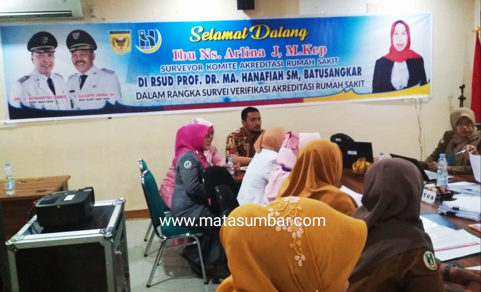 Tim Surveyor KARS Pusat Verifikasi RSUD Prof Dr M Ali Hanafiah Batusangkar