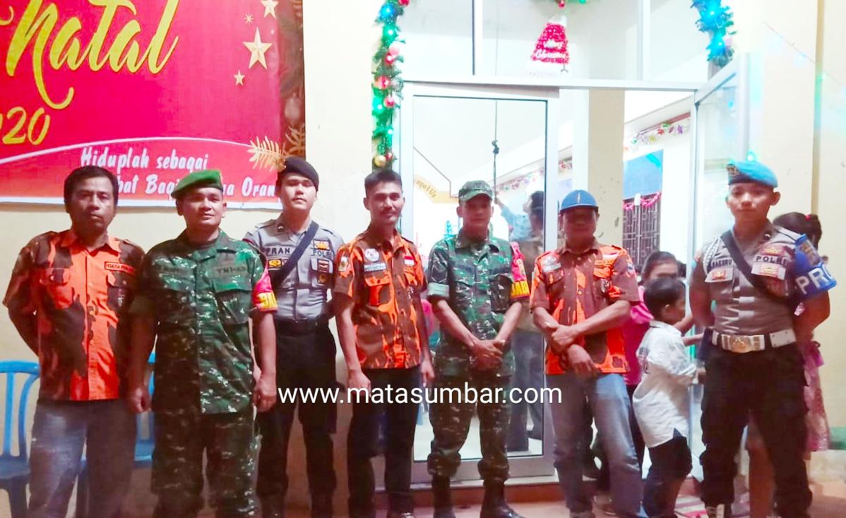 PAC PP Sipora Utara Ikut Andil Pengamanan Perayaan Natal di Sejumlah Rumah Ibadah