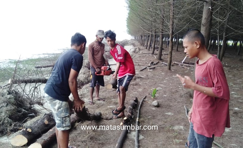 Miris!Pulau Penyu di Hantam Gelombang Tinggi, Kadis PSDA Pessel Tidak Tahu
