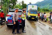 Pasca Banjir di Jalan Raya Tarusan, Kasat Lantas Pessel Himbau Pengendara Berhati Hati