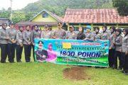 Polres Pessel Gagas Penanaman 1800 Pohon