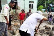 Datangi Lokasi Banjir Bandang, Wahyu IP Bantu Warga Terdampak Bencana