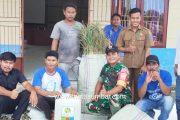Babinsa 03/Sioban Bantu Bibit Serai Wangi dan Bios 44 Untuk Warga Desa Bukit Pamewa
