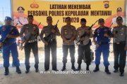 Asa Kemampuan Personel, Polres Mentawai Laksanakan Latihan Menembak