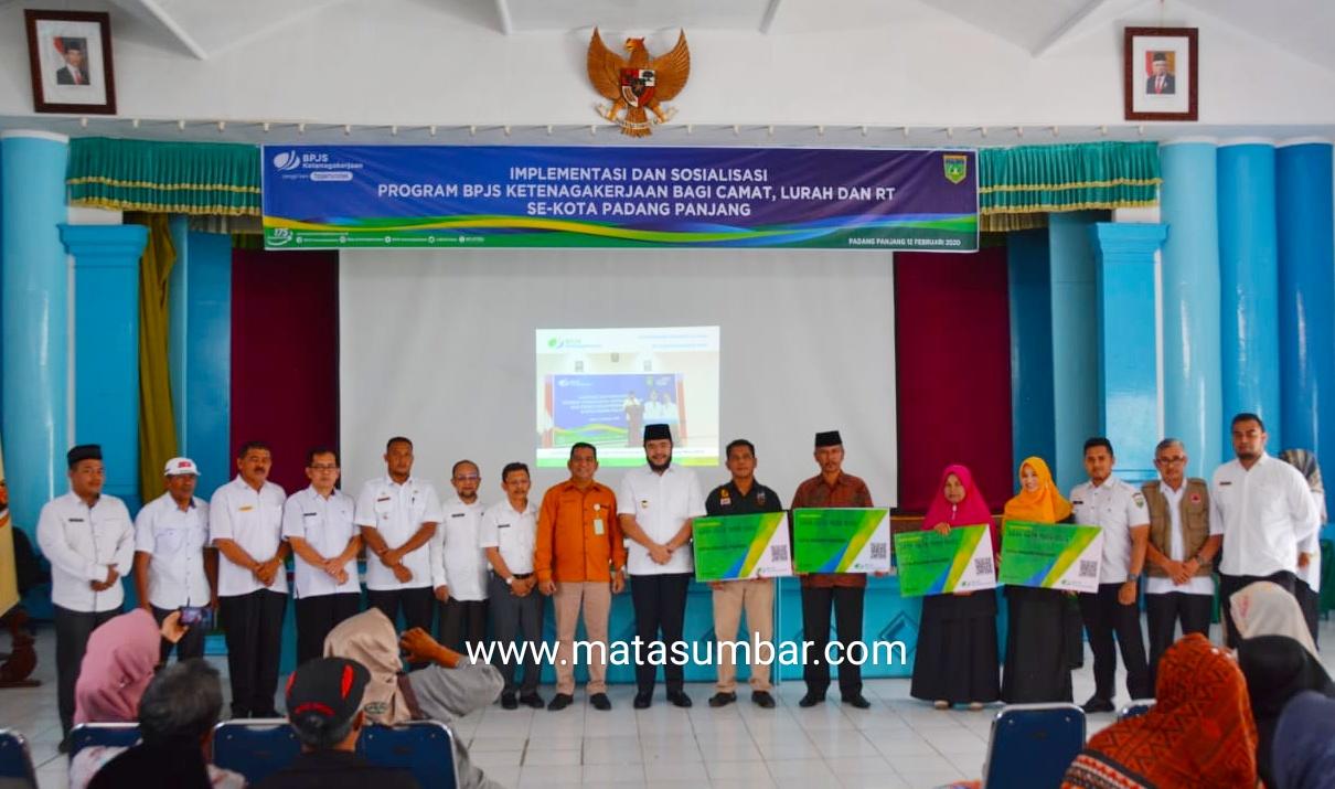 BPJS Cabang Bukittinggi Sosialisasikan JKM Kepada Camat, Lurah dan RT se-Kota Padang Panjang