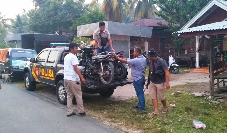 Polsek Linggo Sari Baganti Amankan 8 Unit Sepeda Motor Bersama Penadah