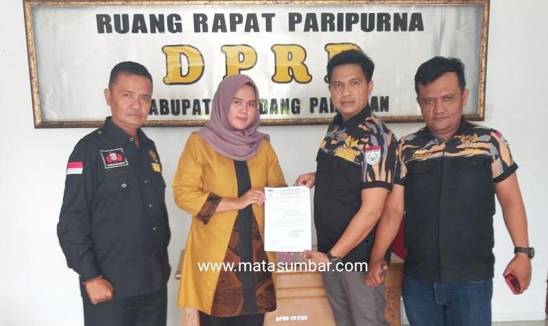 DPD Pekat IB Padang Pariaman Minta DPRD Memanggil Bupati Segera Lakukan RDP Bersama Bank Nagari