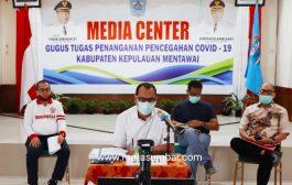 Konferensi Covid-19, Berikut Kebijakan Pencegahan Yang Sudah di Laksanakan Pemkab Mentawai