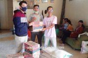 Melalui Relawan, Anggota DPRD Mentawai Dari Partai Gerindra Bantu Sembako Untuk Mahasiswa Simalegi