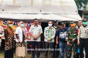 Wabup Pessel Kunjungi Posko Siaga Penanggulangan Covid-19 di Nagari Sako