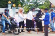Fraksi Musara Kasimaeru DPRD Mentawai Dari Partai Demokrat Berbagi Masker