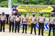 Polres Pessel Cek Pos Pam Ops Ketupat Singgalang 2020 di Beberapa Titik Perbatasan