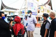 H-3 Lebaran, Wako Fadly Tinjau Pasar dan Menghimbau Masyarakat Tetap Patuhi Protokol Covid