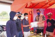 Lima Posko Jalur Alternatif Padang Panjang Terima APD Dari BPBD Kesbangpol