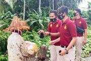 Wujud Kepedulian, Satreskrim Mentawai Berbagi Sembako dan Himbauan Kepada Masyarakat