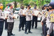 Bantuan Beras Polri Kembali di Salurkan Polres Pasbar Untuk Warga Kurang Mampu