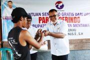 Peduli Covid-19, Legislator Partai Perindo Stefanus Sabaggalet Bantu Masyarakat Terdampak