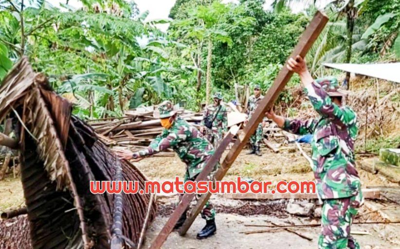 Kado Istimewa di Momen HUT ke 70 Kodam I/BB, Nuriyah Terima Bantuan Bedah Rumah Dari Kodim 0319/Mentawai