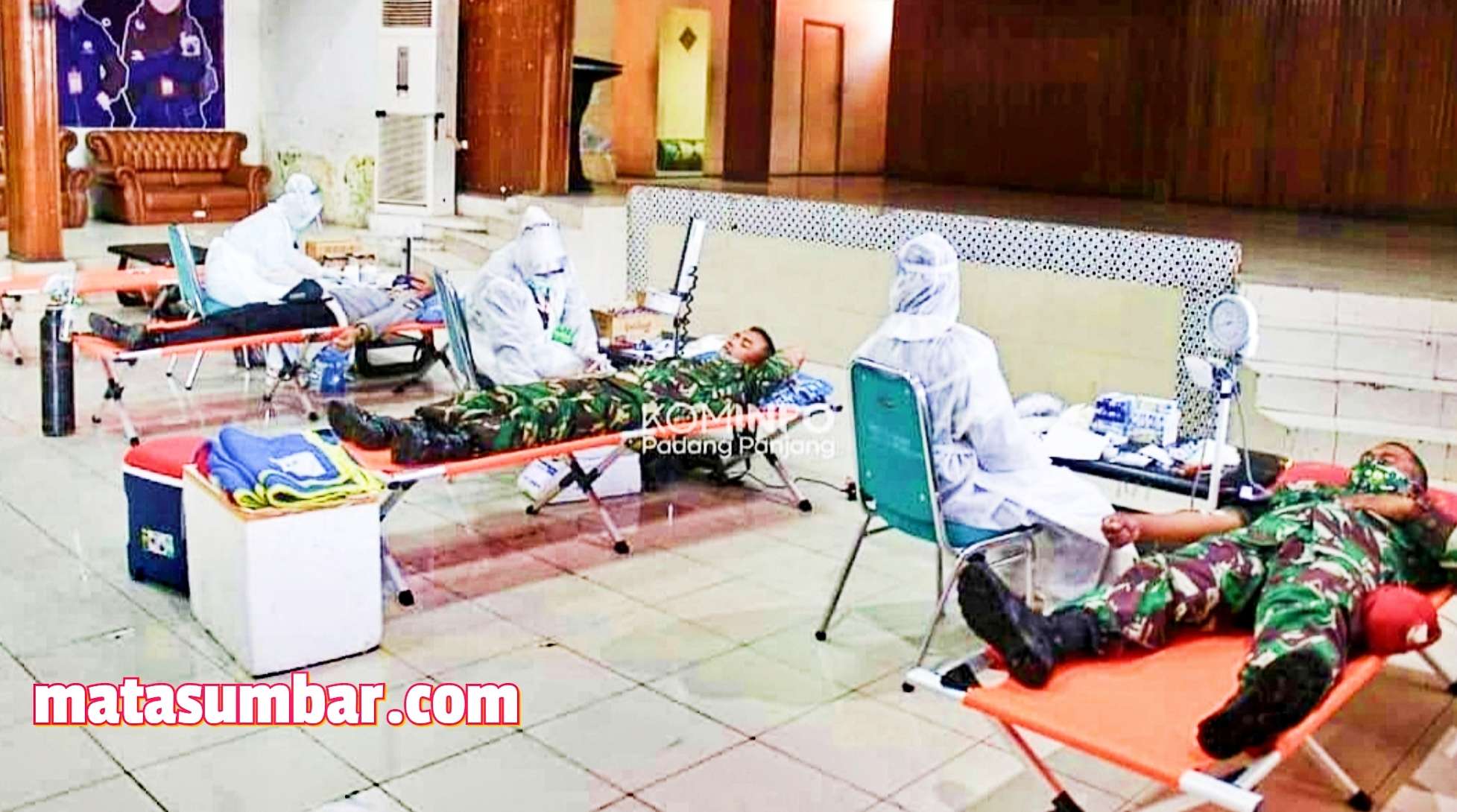 HUT ke 70 Kodam I/BB Disambut Dengan Bhakti Sosial Donor Darah