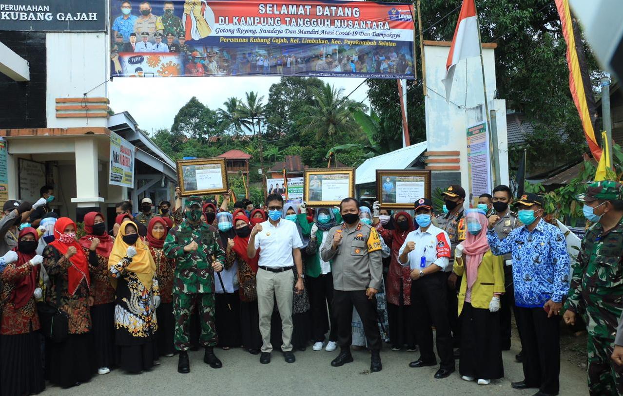 Kapolda Sumbar, Gubernur dan Danrem 032/Wbr Lounching Kampung Tangguh di Payakumbuh