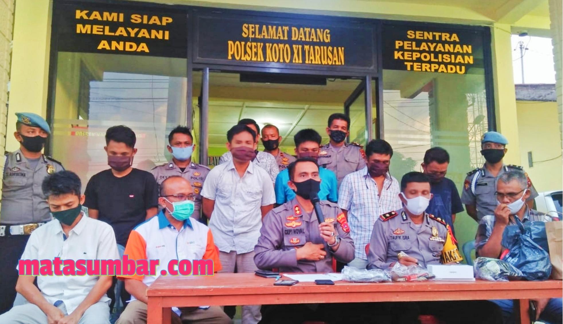 Lima Spesialis Pembobol ATM Asal Lampung di Tangkap Polres Pessel