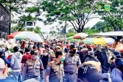 Satpol PP-Damkar Pemprov Sumbar Kunjungi Pasar Pusat Padang Panjang