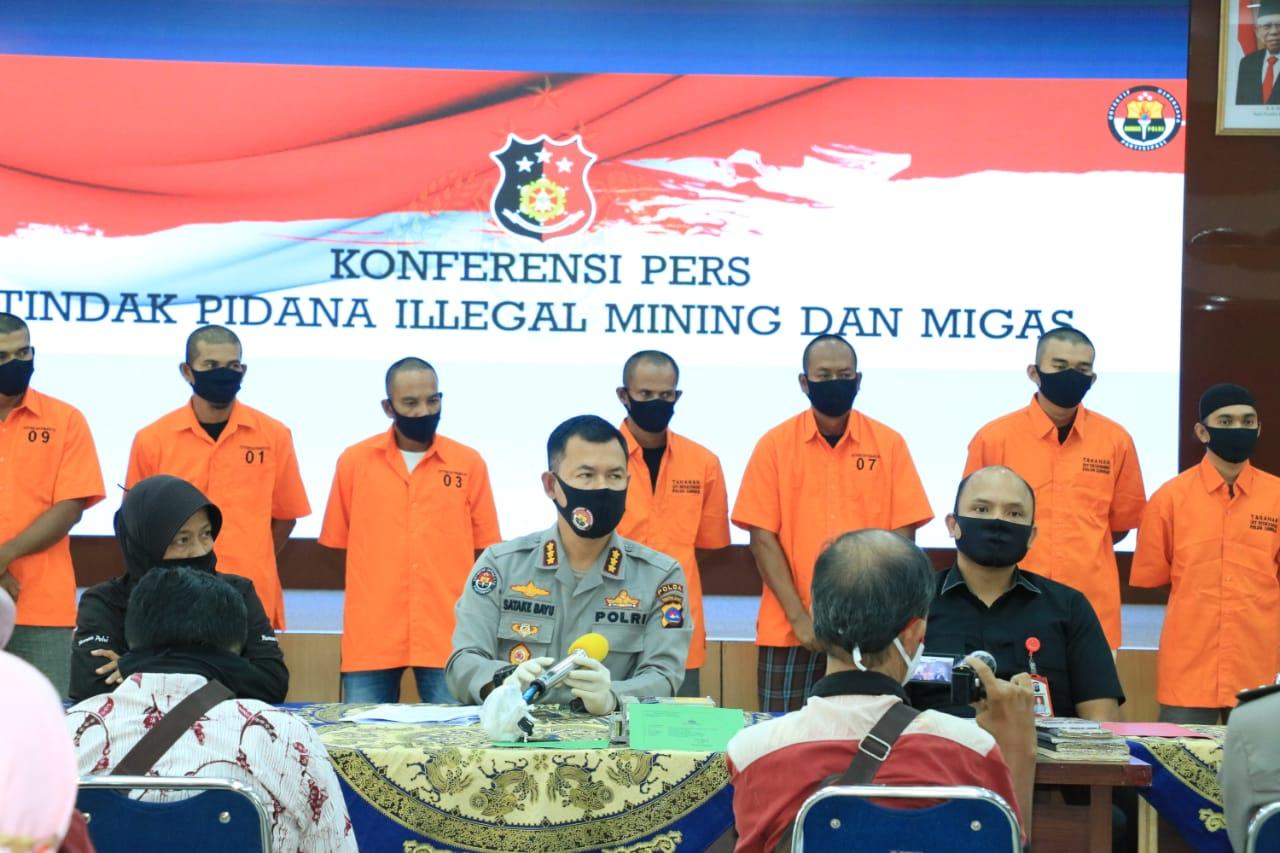 Ditreskrimsus Polda Sumbar Sikat Tujuh Pelaku Illegal Mining