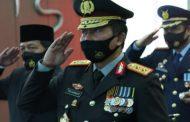 Upacara Peringatan HUT Bhayangkara Ke 74 Dengan Presiden RI Secara Live Vertual di Mapolda Sumbar