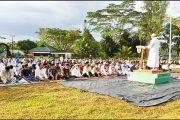 Mengikuti Prokes, Lapangan Makodim 0319/Mentawai di Pusatkan Tempat Pelaksanaan Sholat Ied