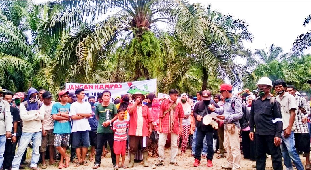 Aksi Unjuk Rasa, Masyarakat Tanjung Pangka Meminta PT GMP Serahkan Tanah Ulayat Seluas 225 Hektar
