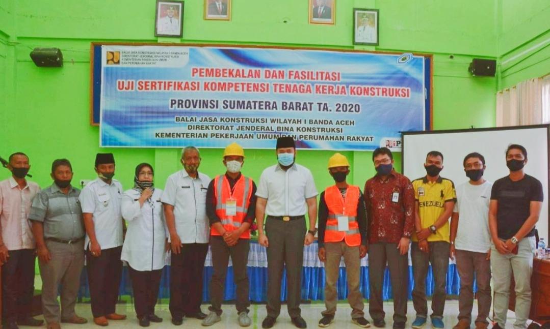PadangPanjang Gelar Pembekalan Kompetensi Tenaga Kerja Kontruksi