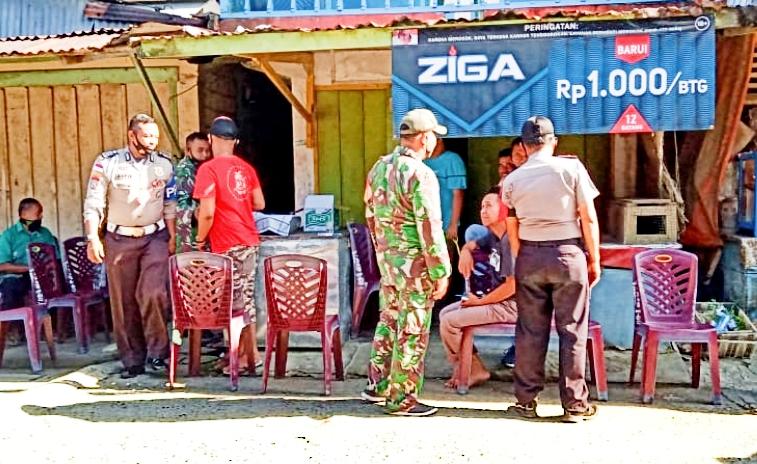 Wujud Kepedulian, Koramil Bersama Polsek Melayat Kerumah Duka di Dusun Sikakap Timur