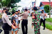 Penegakan Disiplin Prokes, Koramil 02/Muara Siberut Gandeng Polsek